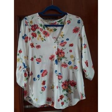 Stradivarius  damska bluzka w piękne kwiaty roz L