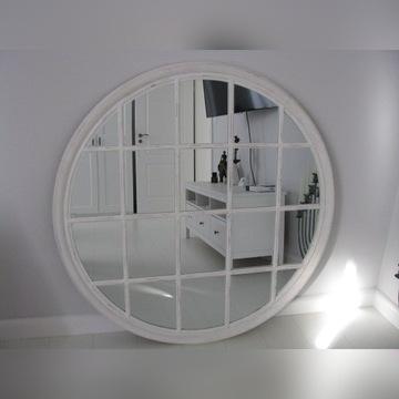 Lustro białe okrągłe prowansalskie 120 cm nowe