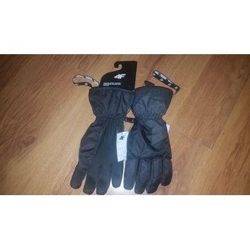 Nowe czarne rękawice narciarskie 4F