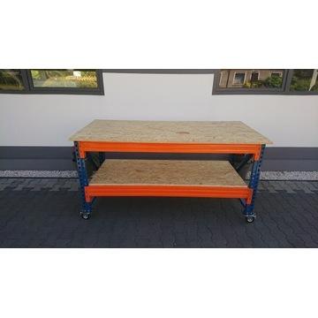 Stół Warsztatowy MOBILNY 280x90x89  Blat OSB 22MM