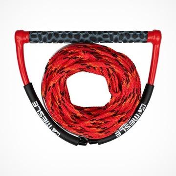 czerwono/czarna lina  wakeboard 19,8 m