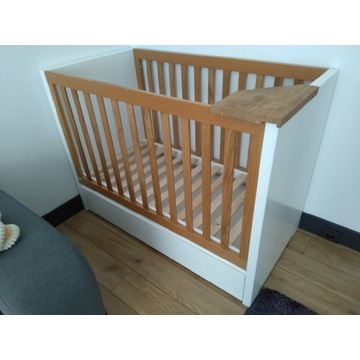 Łóżeczko dziecięce 120x60 Wisad - Michaś Dębowy