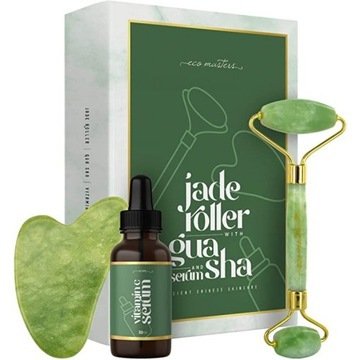 Anti Aging Jadeitowy Roller do masażu twarzy
