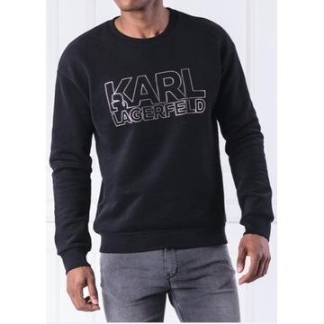 KARL LAGERFELD - Czarna bluza męska w roz. L