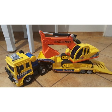 Zabawka turbo king shovel trailer koparka