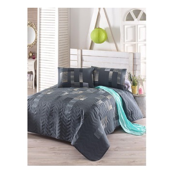 Narzuta na łóżko 200x220 cm 2 poszewki na podu