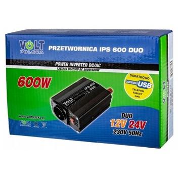 Przetwornica samochodowa IPS600 DUO 12v 24v 300w