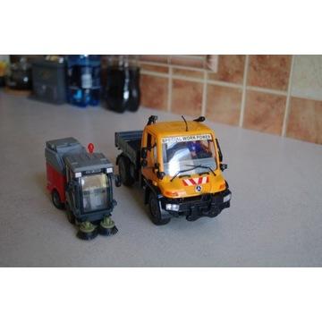 Wywrotka/pojazd specjalny oraz zamiatarka