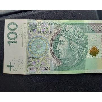 Banknot 100 złotych seria 333