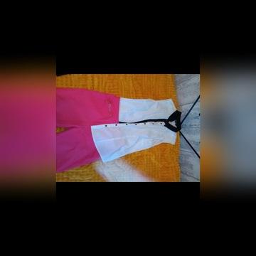 Oufit bluzka koszulowa krótkie spodenki