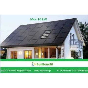 Instalacja Fotowoltaiczna-Zestaw  10 kW z Montażem