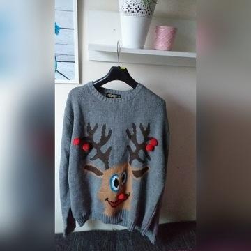 Sweter świąteczny Renifer XL