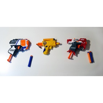 Zestaw pistoletów NERF (MicroShots/Fortnite/Jolt)