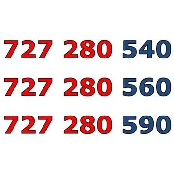 727 280 5x0 ZŁOTY NUMER STARTER x 3