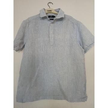 Lniana koszula marks& Spencer niebieska