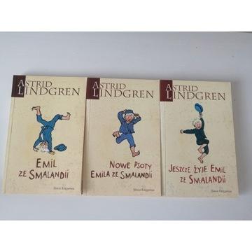 "3 książki ""Emil ze Smalandii"" Astrid Lingdren"
