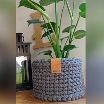 Koszyk z bawełnianego sznurka