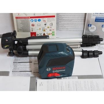 BOSCH GLL 2-10 laser niwelator krzyżowy statyw