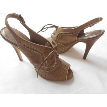 Sandały na szpilkach _25,8cm_ 40,5 (UK7)