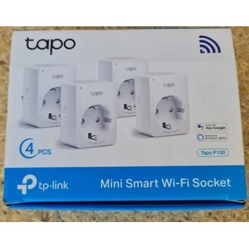 Gniazdko TAPO p100 TP-Link WiFi białe 4 sztuki