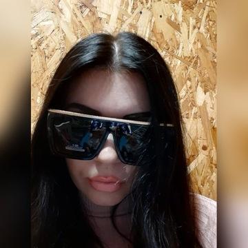 Okulary damskie duze