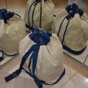 Nowy worek marynarski żeglarski torba plecak plaża