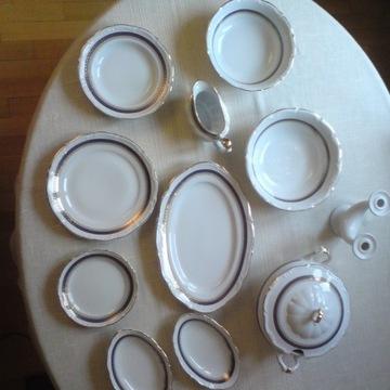 Serwis obiadowy 12 osób porcelana Wałbrzych