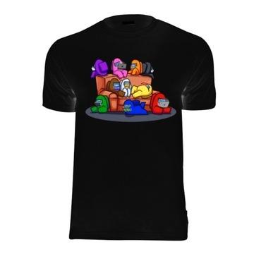 amongus among us koszulka logo tshirt dziecieca