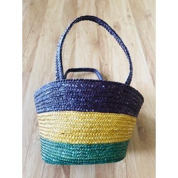 Koszyk torebka słomiana plecionka słomkowy plecion