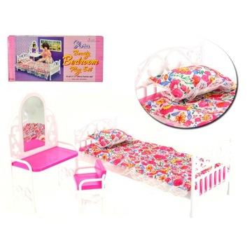 Educore łóżko dla lalki 29cm sypialnia krzesło