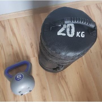 Sandbag . Worek . Trening 20kg . Ketle.  Hantla