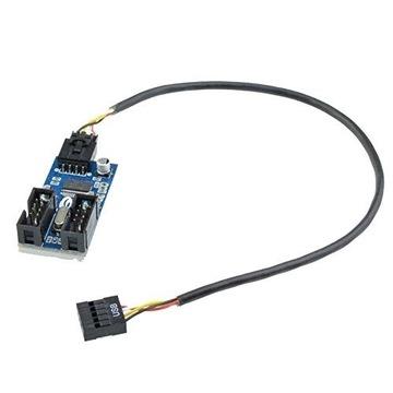 Płyta główna USB 9 pin 1 do 2 splitter przedłużacz