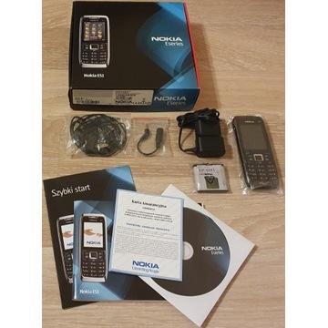 Nokia E51 Czarna Oryginał Komplet PL
