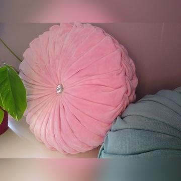 Ozdobna poduszka minky jasny róż