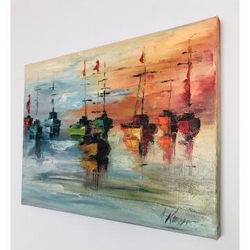 Obraz olejny PORT by Aneta Karpezo, 30x40 cm