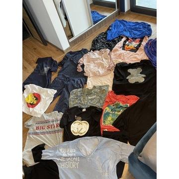 Zestaw ubrań damskich od L-xl buty torebka