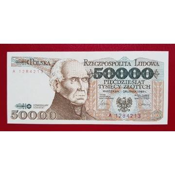 50000 złotych 1989 rok Seria A stan UNC