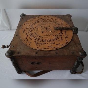 Instrument muzyczny typu katarynka- Ariston