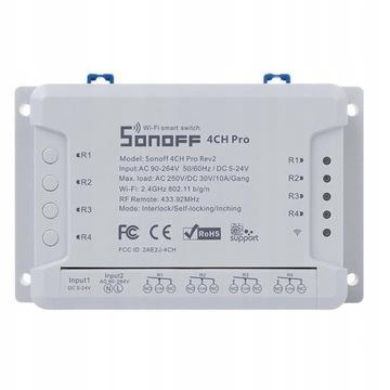 Sonoff 4CH Pro R2 Inteligentny przełącznik WiFi RF
