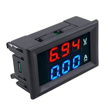 Voltomierz Amperomierz 0-100V 0-10A DC