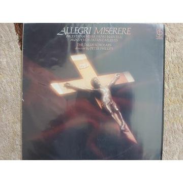 ALLEGRI - MISERERE, PALESTRINA (LP)