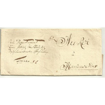 List Starogard - Kwidzyń -   rok 1790
