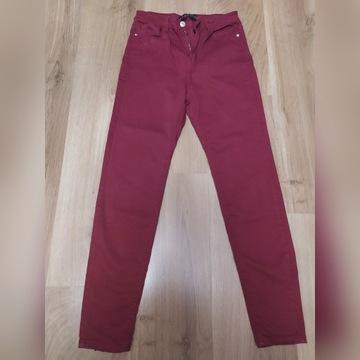 Ceglaste jeans wysokim stanem STRDIVARIUS rozm. S