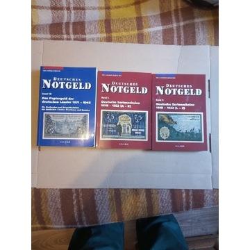 Katalogi notgeldów 3 tomy