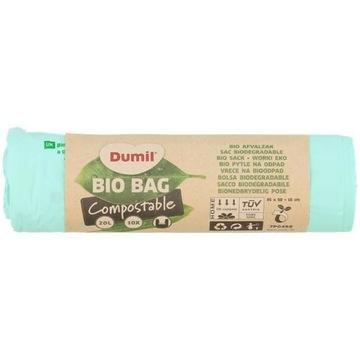 Ekoworki na śmieci Dumil 10 szt.   20 l Bioodpady