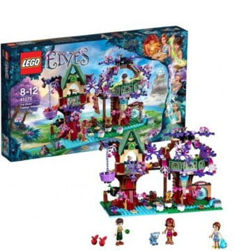 LEGO Elves 41075 kryjówka elfów na drzewie PUDEŁKO