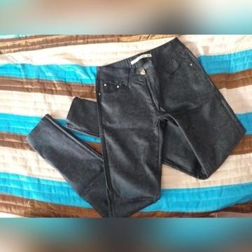 Spodnie Skórzane Wytłaczane Rurki Damskie