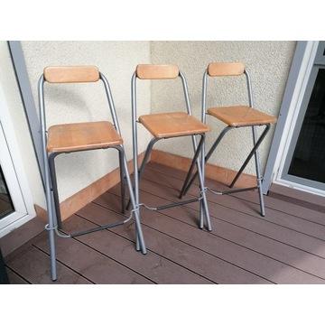 HOKERY Ikea, wysokie krzesła, 3 szt.