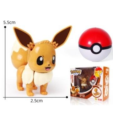 Pokeball Clip Składana figurka Pokemon Eevee