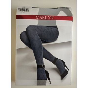 Rajstopy Grace R01 - 60 den Marilyn Black 3/4